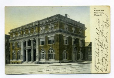 Creve Coeur Club House Peoria Illinois 1907 postcard