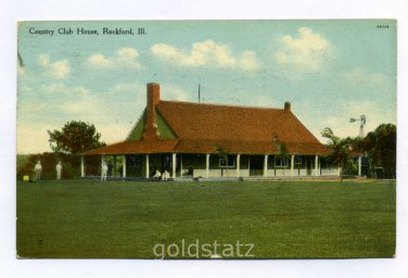 Country Club House Rockford Illinois 1909 postcard