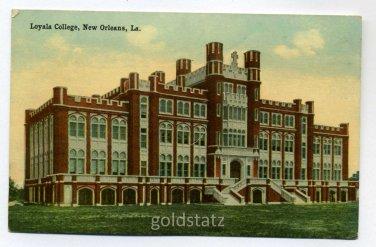 Loyola College New Orleans Louisiana postcard