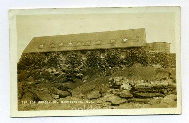 Tip Top House Mount Washington New Hampshire RPPC 1931 postcard