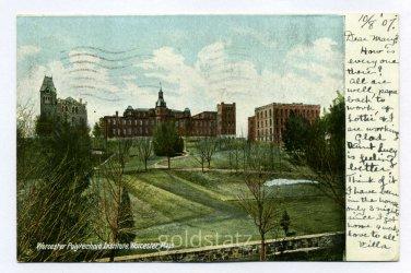 Worcester Polytechnic Institute Worcester Massachusetts 1907 postcard