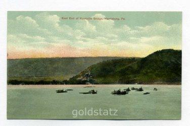 Rockville Bridge Susquehanna River Harrisburg Pennsylvania postcard