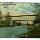 Covered Bridge Old Factory Bridge Williamson Park Lancaster Pennsylvania 1919 postcard