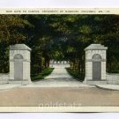 Gate University of Missouri Columbia Missouri 1939 postcard