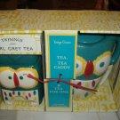 Twinings Of London Vintage Classics Earl Grey Tea Owl Tea Caddy  NEW