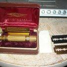 Vintage Gillette Aristocrat Razor Set with Case and Blades