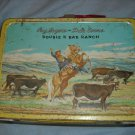 1950's ROY ROGERS And DALE EVANS Double R Bar Ranch Lunchbox VINTAGE Red Handle