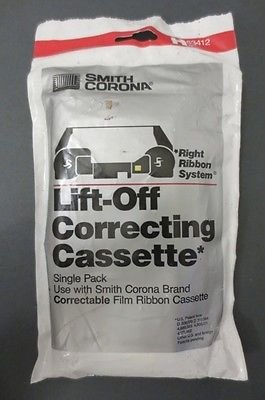 Smith Corona H Series H93412 Lift-off Correcting Cassette Right Ribbon System