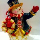 The Glistening Holiday Treasures Snowman Figurine By The Bradford Exchange