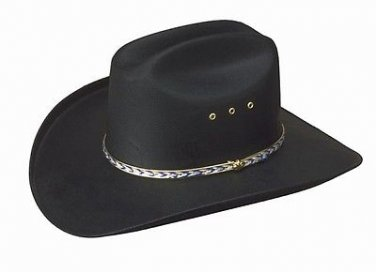 Western Charleston Heston Straw Cowboy Hat Rodeo Men's Women Kids Black S,M,L,XL