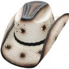 Genuine Western Urban Straw Hat Rodeo, Beach, Cowboy Hat Tan Color S,M,L,XL Size