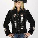 Western Express Black Suede Western Ladies Jacket Motorcycle / Bikers -ALL SIZES