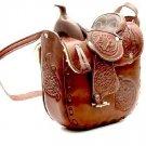"Western Express MP-0067/CHOC Leather Saddle Chocolate Size 10""x9"" Purse Handbag"