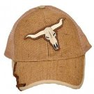 Western Express New Light Brown Baseball Cap with Steer
