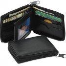 "Western Express Leather Zipper BiFold Wallet Black - Only 3-1/4"" x 4-1/4"""