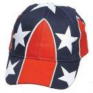 Rebel Confederate British Flag Adjustable Baseball Cap - One Size Fits All