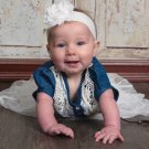 Ready for Shipping 9-12 Months Rodeo Denim Cowgirl Tutu Dress Barn Wedding Outfit for Girls