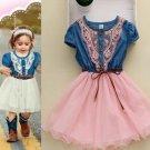 Texas Little Cowgirls 12-18 Mos Months Denim Cowgirl Dress for Girls Pink Dress Barn Wedding Dress