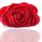 Red Flower Clutch for Women Red Purse Bridesmaids Elegant Evening Clutch