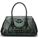 Green Genuine Leather Bags Embossed Crocodile Pattern High Quality Green Handbags