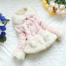 Pink Coat Faux Fox Fur Coat for Toddler Girls Pink Jacket Super Soft Overcoats for Kids