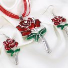 2018 Jewelry Set Unique Rope Casual Leather Ropes for Cowgirl Accessory Rose Pattern