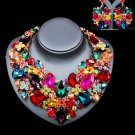 Bridal Multi-Colored Unique Jewelry Set Bijoux Chunky Jewelry Set Gift Party Statement For Women