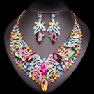 V-Shape Crystal Set Wedding Prom Accessory Mother of The Bride Jewelry Set