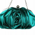 RSS Fashion Purse for Bridesmaids Elegant Evening Gown Big Rose Floral Luxury Handbags