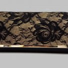 Black Clutch Bridal Bags Exquisite Embroidery Laced Clutch RSS Fashion Vintage Black Purse for Women