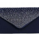 Blue Clutch Bridal Purse Envelope Type Laced RSS Fashion Blue Purse for Women
