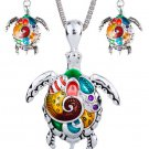 Jewelry Set for Women Turtle Casual Silver Plated Turtle Jewelry Sets
