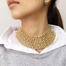 Chunky Necklace Statement For Women Bib Maxi Collar Choker  Necklace 5 Layers Choker