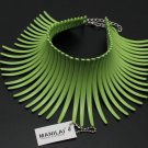 Aboriginal Tribal Necklace Statement Green Choker for Women Chunky Collar Necklaces Fashion Torques
