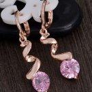Sophisticated Twist Fashion 2018 RSS Spiral Earrings Pink Drop Earrings Spiral Long Earrings