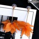 Exaggerated Acrylic Orange Flowers Drop Earrings RSS 2018 Fashion Earrings for Women