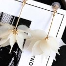 Exaggerated Acrylic White Floral Drop Earrings RSS 2018 Fashion Earrings for Women