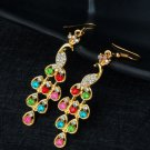 Colorful Crystal Peacock Earrings Dangle Earrings RSS 2018 Colorful Fashion Earrings