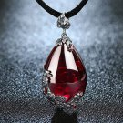 100% 925 SS Royal Natural Stones Red Pendant Necklace 2018 RSS Fashion Necklace For Women