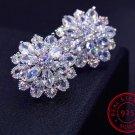 925 SS Drop Earrings Silver Earrings AAA Zircon Snowflakes 2018 RSS Fashion Super Earrings