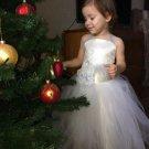 White Tutu Dress for Flower Girls Photography Props Wedding Formal Wear White Dress