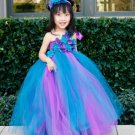 Flower Girls Blue Tutu Dress Mixed Colors Tulle 2018 RSS Fashion Dress for Girls