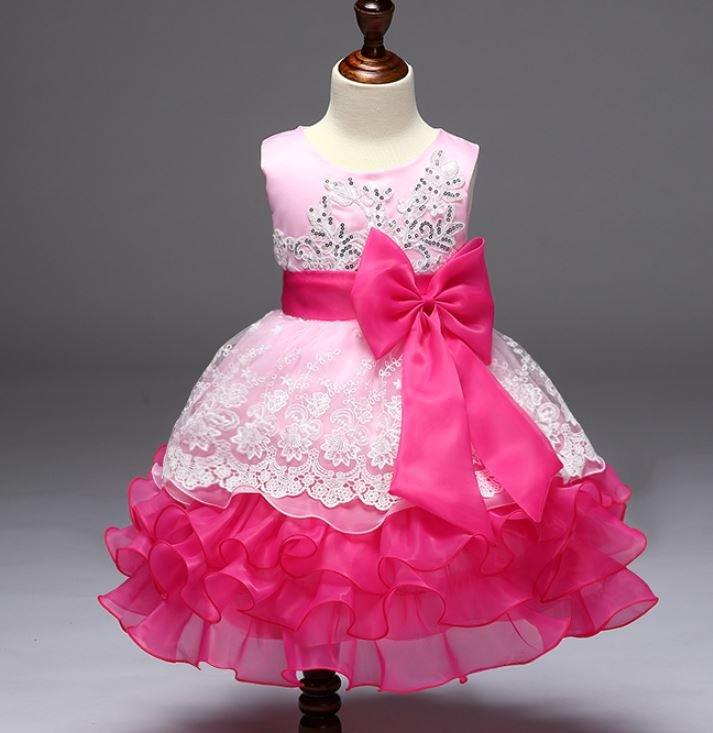 Pink Formal Wear for Flower Girls Organza Ballgown Pink Dresses 2018 RSS Fashion Dress for Girls