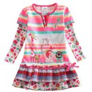 Pink Tops Multi-colored Long Sleeve Tees Spring Blouse Animal Patch 2018 RSS Fashion Tops for Girls