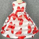 Sleeveless Red Dress Printed Big Butterflies Spring Dress for Girls RSS 2018 Fashion Dress for Girls