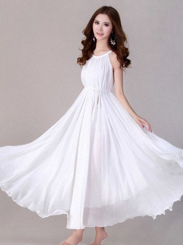 White Dress Bridal Wedding Dress Bridesmaids Maxi Dresses