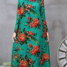 Green Dress for Women Printed Floral Linen Dresses Linen Processor Linen Dresses for Women