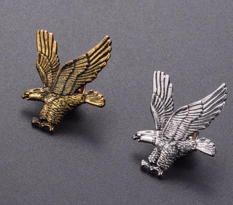Pin Brooch for Men Eagle Lapel Pins Unisex Brooch for Men and Women Eagles Flight