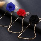 Pin Blue Brooch for Men Floral Lapel Pins Brooch for Men Prom Wedding Brooch for Men