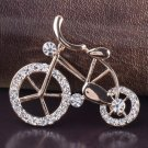 Classic Golden Bike Brooch for Bikers Unisex Pins and Brooches Wedding Prom Pins